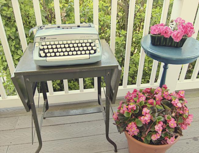 typewriter porch web