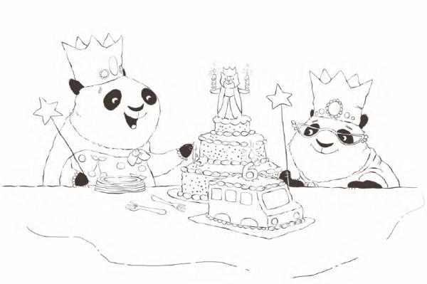 Amanda Panda Coloring Sheet
